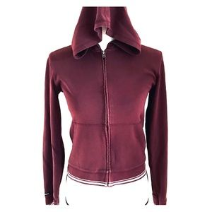 Abercrombie & Fitch Burgundy Zip Up Hoodie